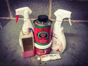 hoof oil, sprays, etc