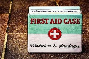 horse care, first aid box
