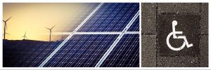 Solar and wind Energy, disabled access