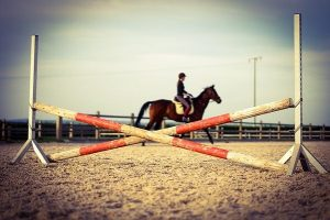 Cross pole in Riding Arena